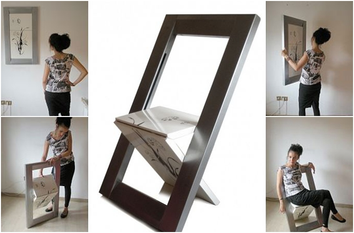 sedia diventa quadro