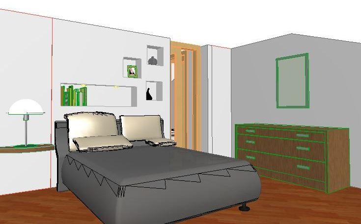 Risparmio energetico free interior design for Cabina armadio dietro il letto