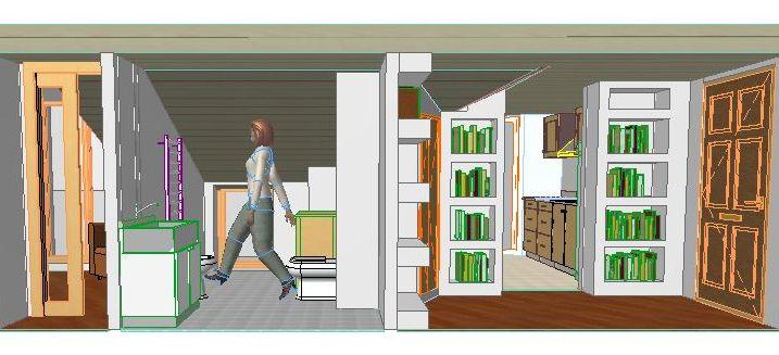 Progettare un piccolo attico con lo studio millimetrico - Progettare un bagno piccolo ...